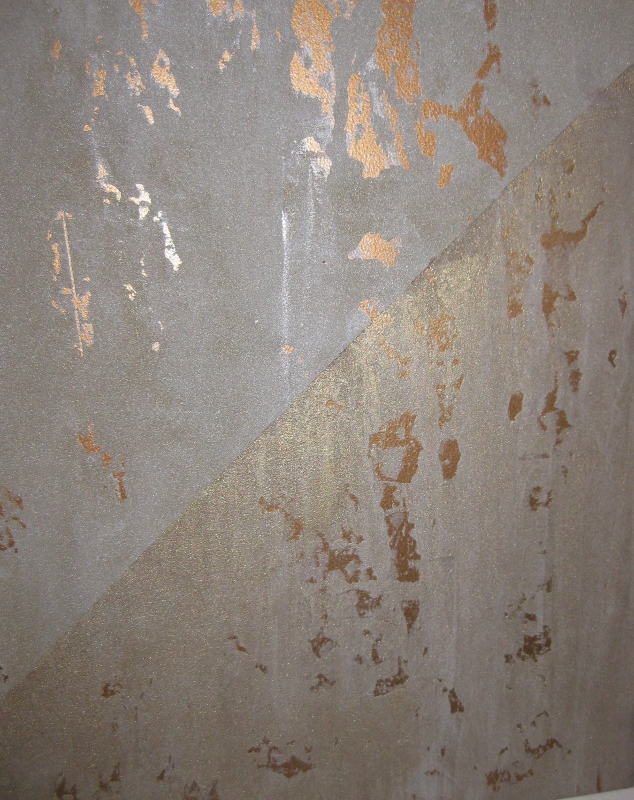 Wall Finishes Metallic Paint : Finishing acts charred gold the chameleon color of