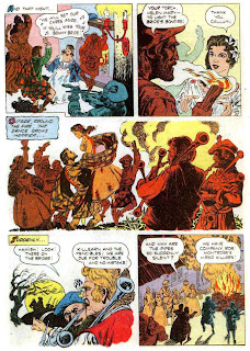 Rob Roy / Four Color Comics #544 dell comic book page art by Russ Manning