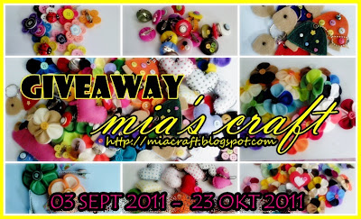 GIVEAWAY Mia's Craft