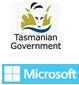 Tasmanian Government & Microsoft logos