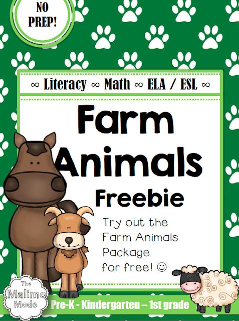https://www.teacherspayteachers.com/Product/FREEBIE-Farm-Animals-Vocabulary-Math-and-Literacy-Package-ELA-ESL-No-Prep-1814855