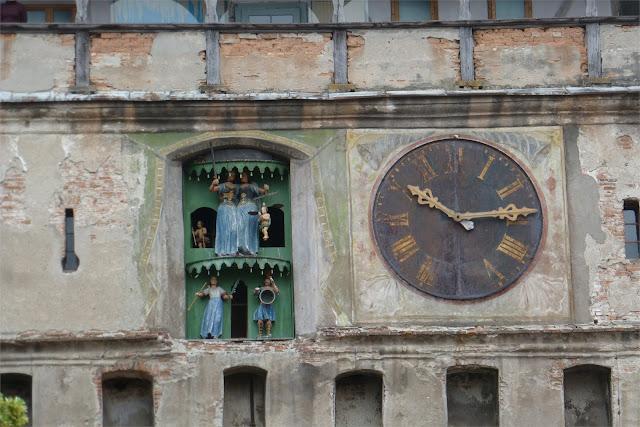 Detalle de la Turnul cu Ceas (Torre del Reloj) - Sighişoara