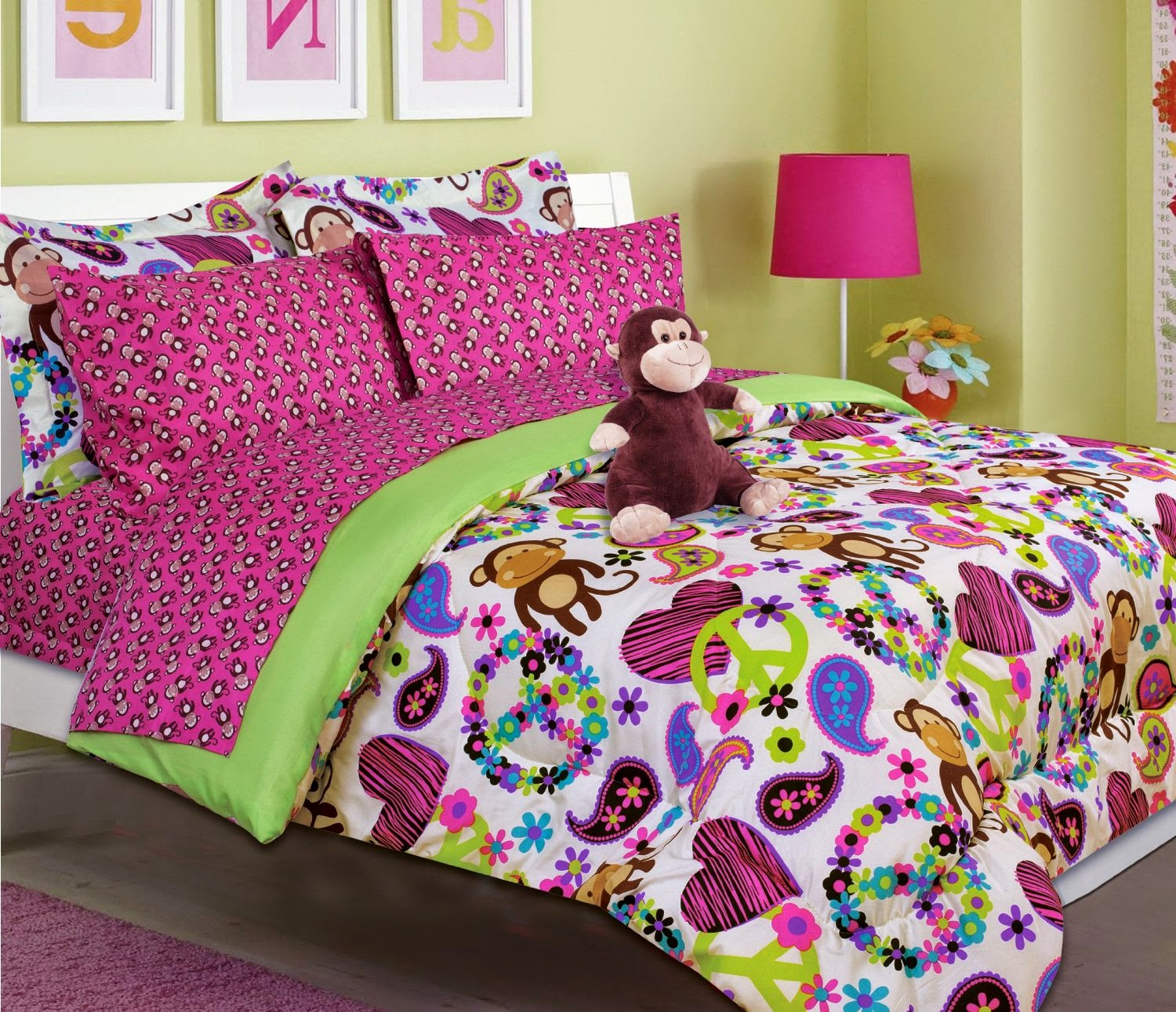 Http Themed Bedroom Decor Ideas Blogspot Com 2014 06 Monkey Themed Bedding Set For Girls And Html