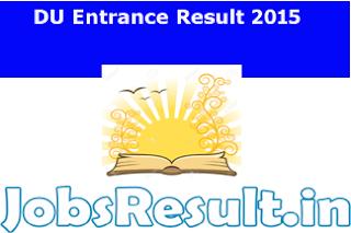DU Entrance Result 2015