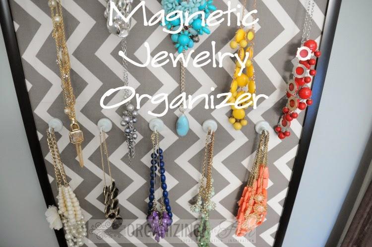 Magnetic Jewelry Organizer :: OrganizingMadeFun.com