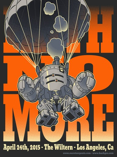 Faith No More Los Angeles 2015 Concert Poster Standard Edition Screen Print by Huck Gee