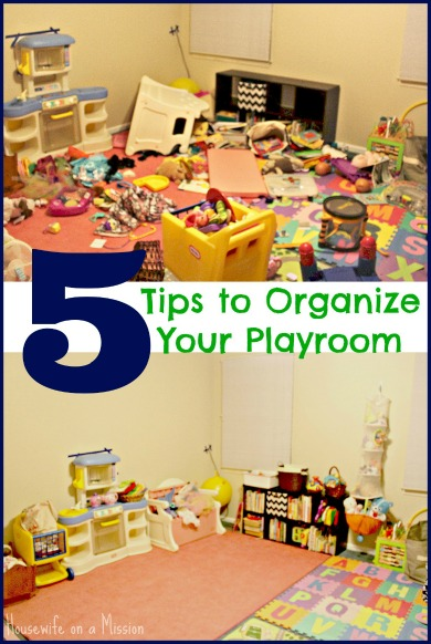 5 Tips To Organize Your Playroom