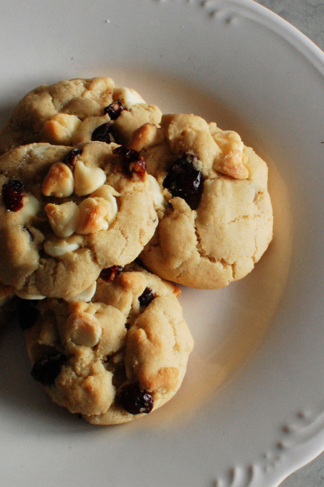 White Chocolate Cranberry Cookies | Beantown Baker