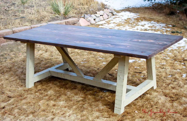 ana white farmhouse table plans