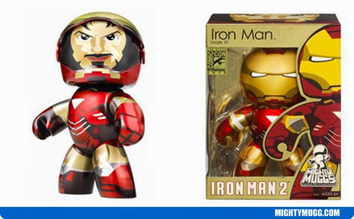 Iron Man Mark VI Iron Man 2 Retractable Visor Marvel Mighty Muggs Exclusives