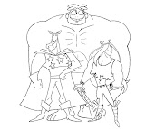 #8 Justice Friends Coloring Page