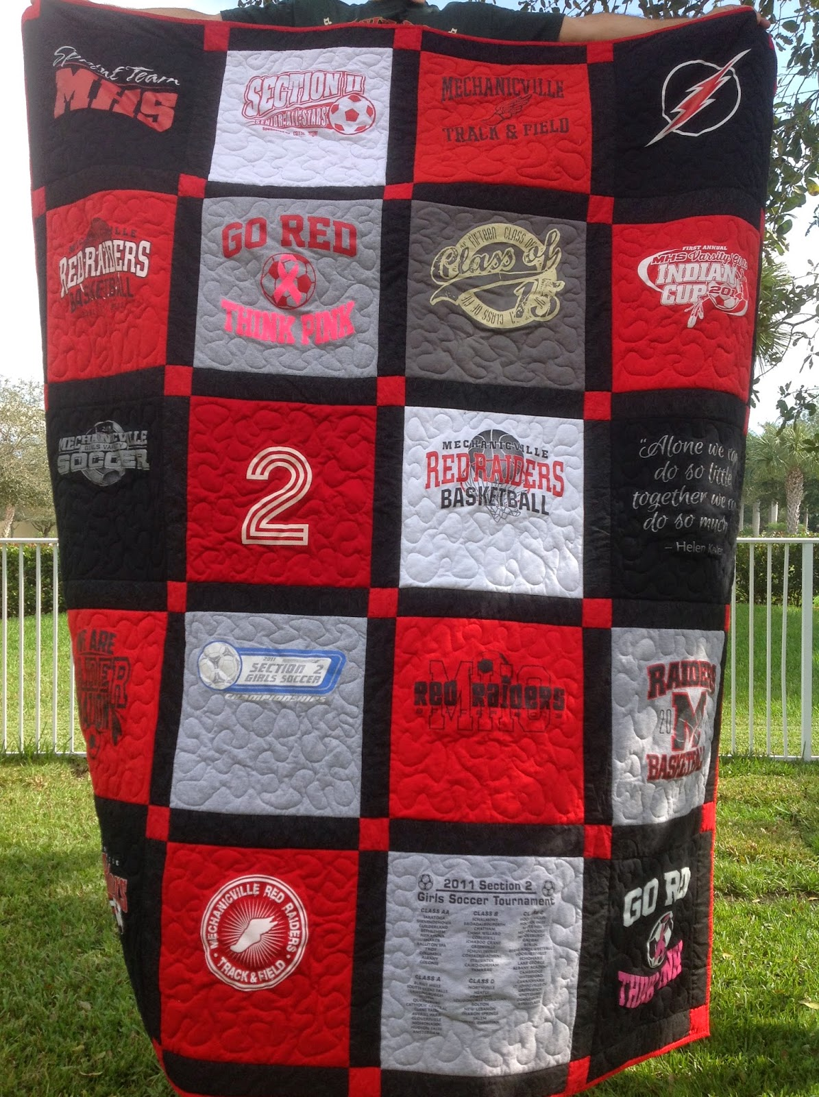 Made With Love And Ladybug Hugs T Shirt Quilt For Sarah
