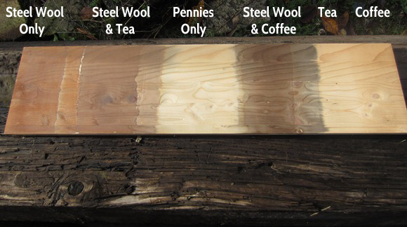 Making wood stain with vinegar and pennies