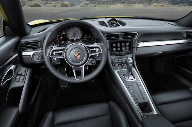 2016 Next Porsche 911 Carrera and targa revealed  interior dashboard