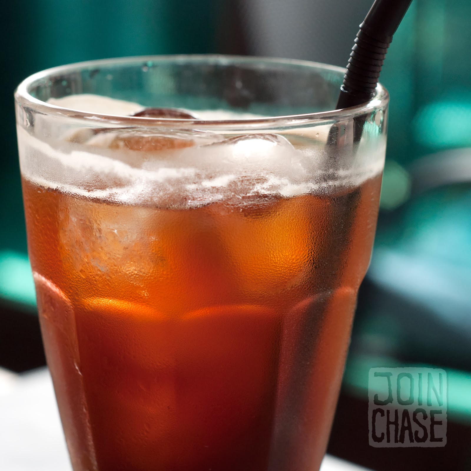 Iced Americano at Cottage Cafe Borie in Itaewon, Seoul, South Korea.