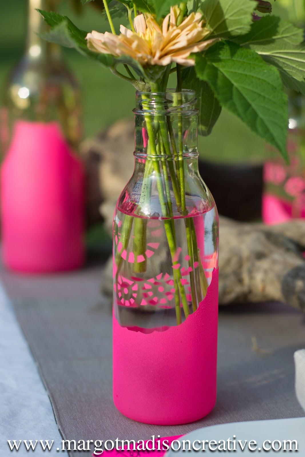 Margotmadison diy friday lace painted bottle vases diy friday lace painted bottle vases floridaeventfo Gallery