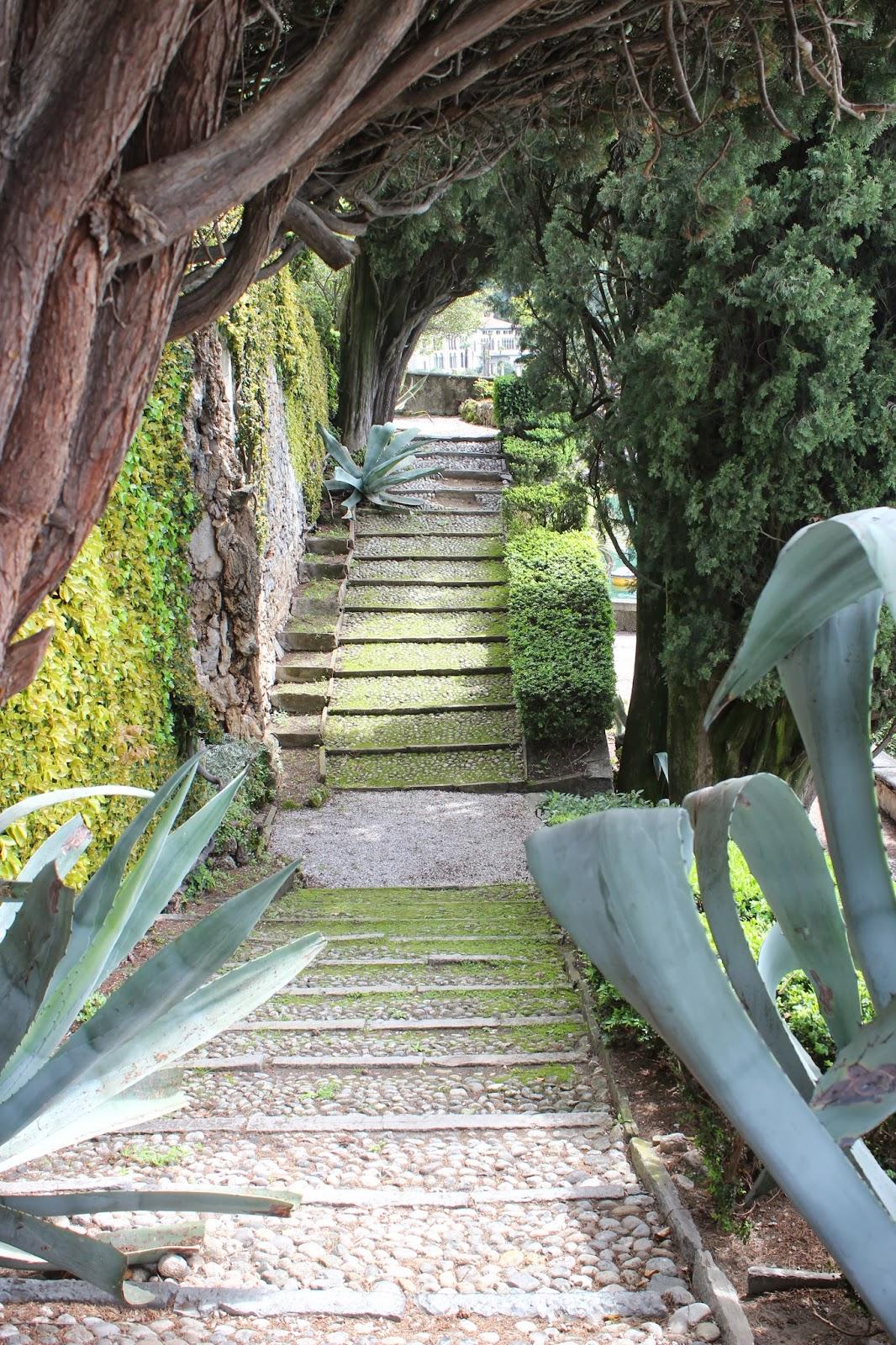 Italian Garden with Agave; Lake Como