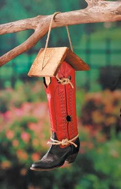 Astute Homestead Upcycled Shoes As Birdhouse