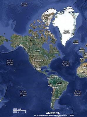 Foto de satelite de America