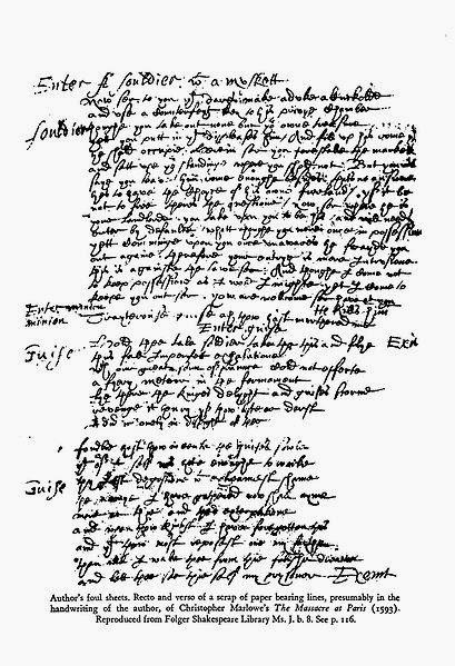 Shakespeare Handwriting