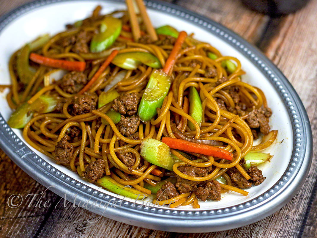 Beef Broccoli lo Mein Ground Beef lo Mein