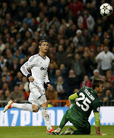FÚTBOL-El Madrid empieza los cuartos goleando