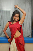 Chaithra setti sizzling in half saree-thumbnail-1