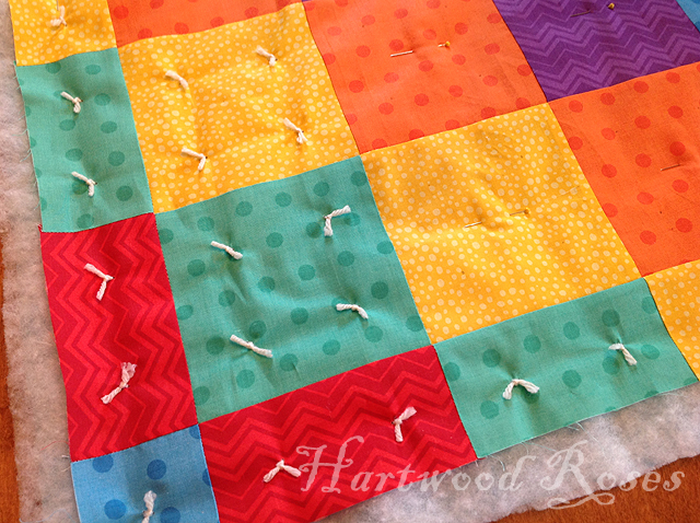 Hartwood Roses: The 24-Hour Quilt : quilt with yarn ties - Adamdwight.com