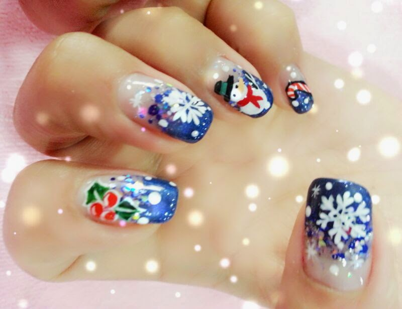 This gel manicure was done 1 year ago by Adeline Nails