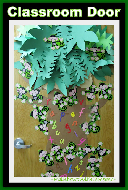 Monkey Theme Chicka Chicka Classroom Door Decoration (via RainbowsWithinReach)