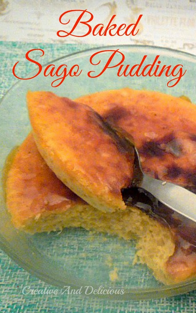 Baked Sago Pudding ~ Delicious, comforting dessert ! #BakedDessert #SagoPudding #Dessert