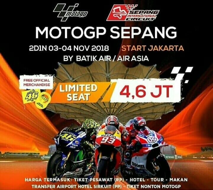 Paket Wisata Malaysia Plus Tiket Nonton Moto GP