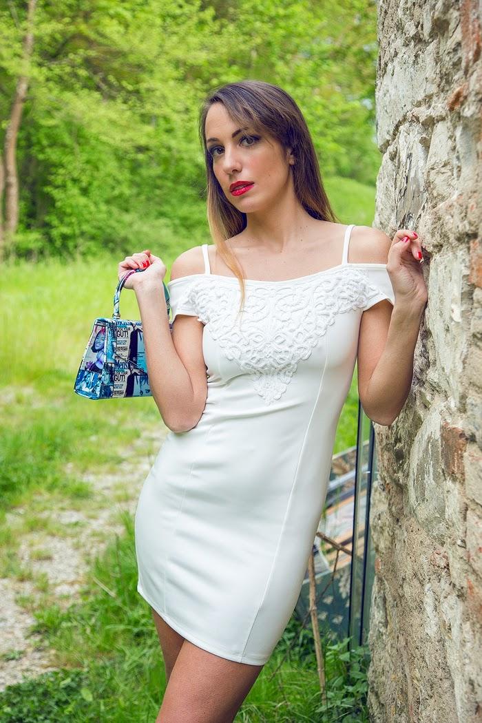mini abito bianco