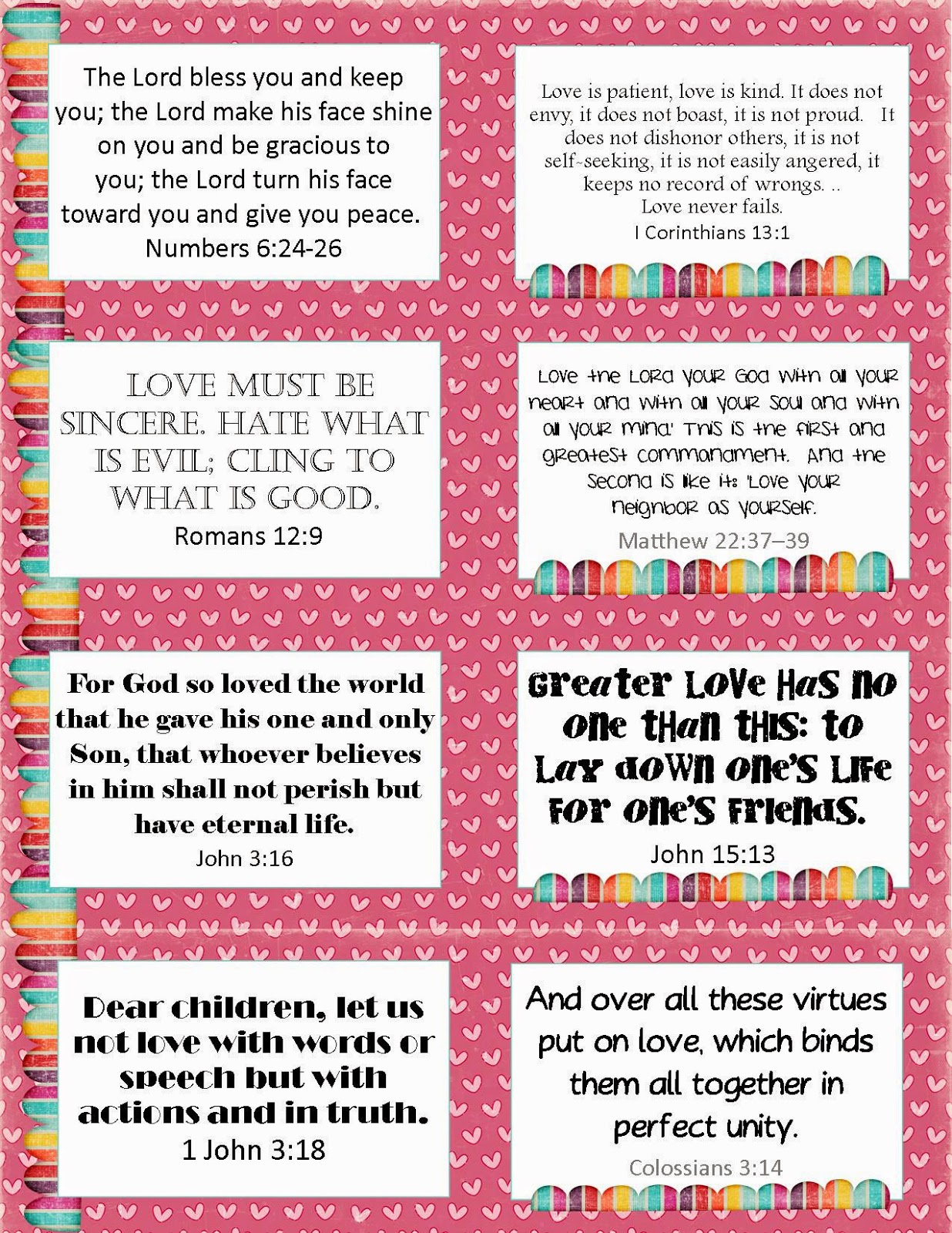 The Blogging Pastors Wife Printable Valentines Verse Cards
