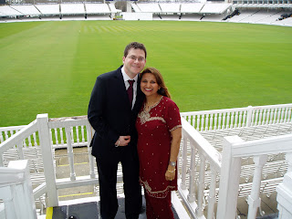 attending a wedding at Lords cricket club