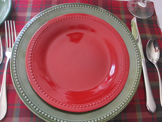 Love these plates - real  work horses.  We have them in several colors..... Spice Route  from Pier 1 & Table for One: September 2015