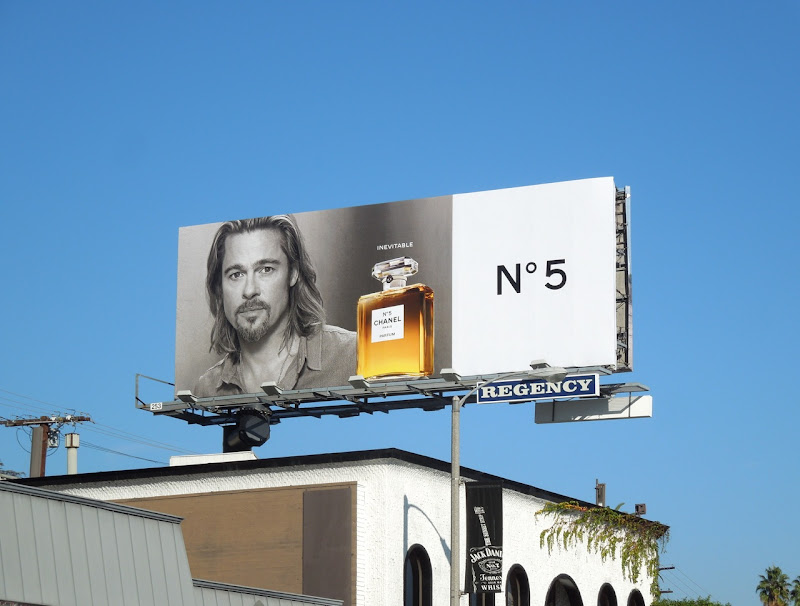 Brad Pitt Inevitable Chanel No5 billboard