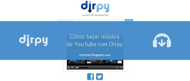Cómo bajar música de YouTube con Dirpy