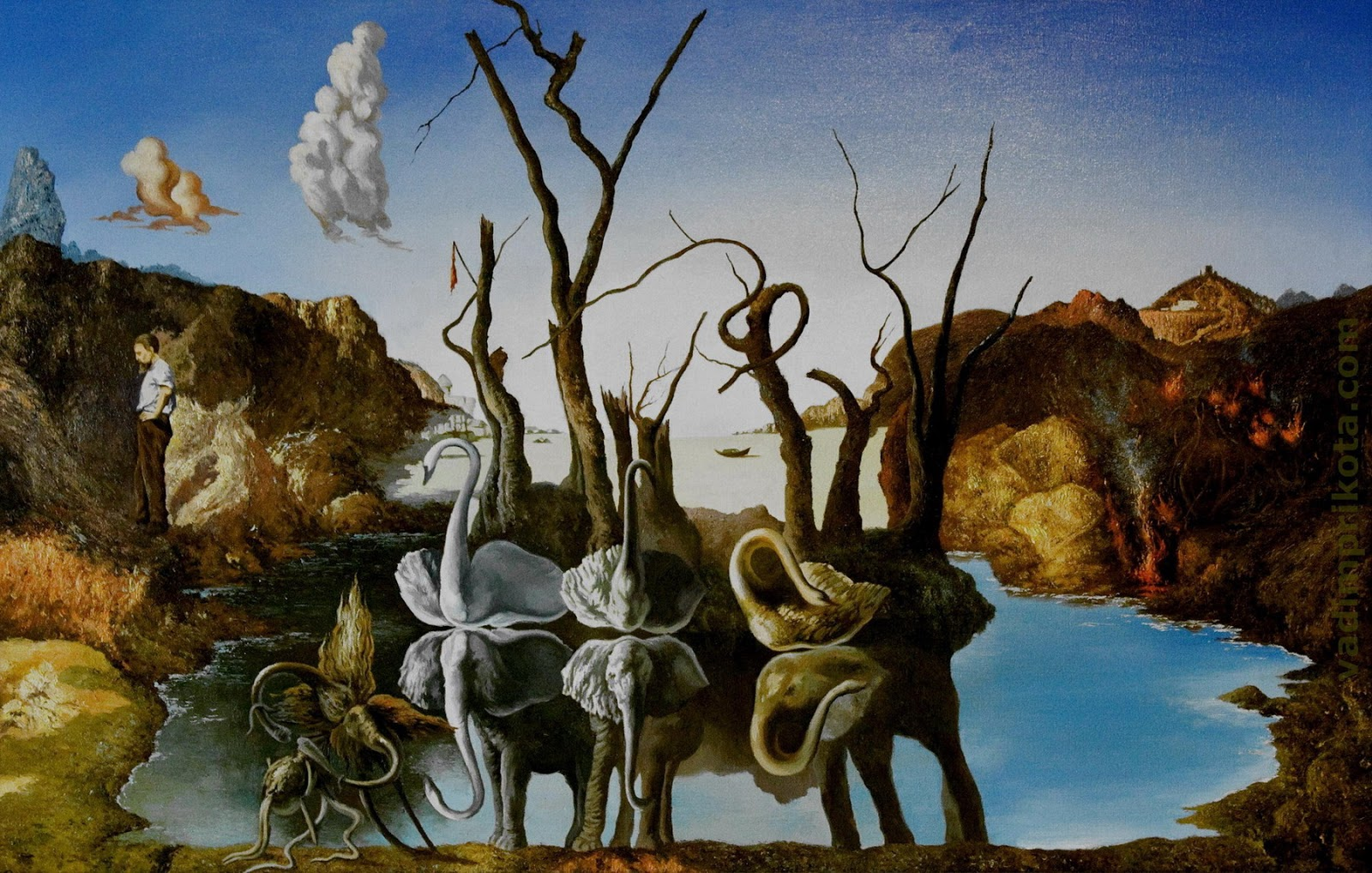 Super PAINTING] [SURREALISM] Salvador Dali - ART FOR YOUR WALLPAPER VP68