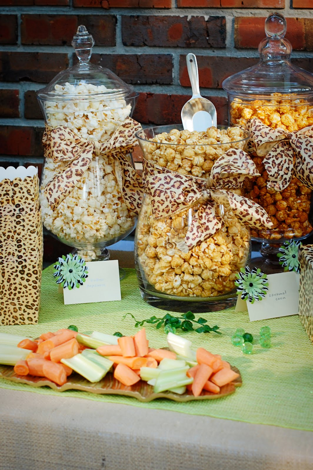 Cheetah safari party and a surprise a small snippet - Table snack bar but ...