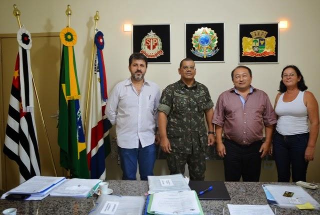 Visita do Delegado do Serviço Militar na Cidade de Cajati - SP