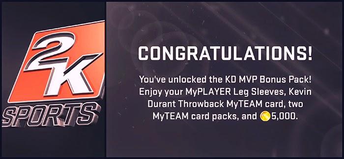 NBA 2K15 Unlock KD MVP Preorder Bonus Pack