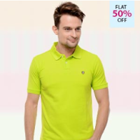 Buy  Men's IZOD T-Shirts at Flat 80% Off & 30% CashBack: Buytoearn