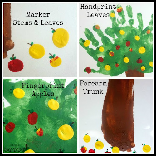 Handprint Apple Tree Art Project from Blissful Roots