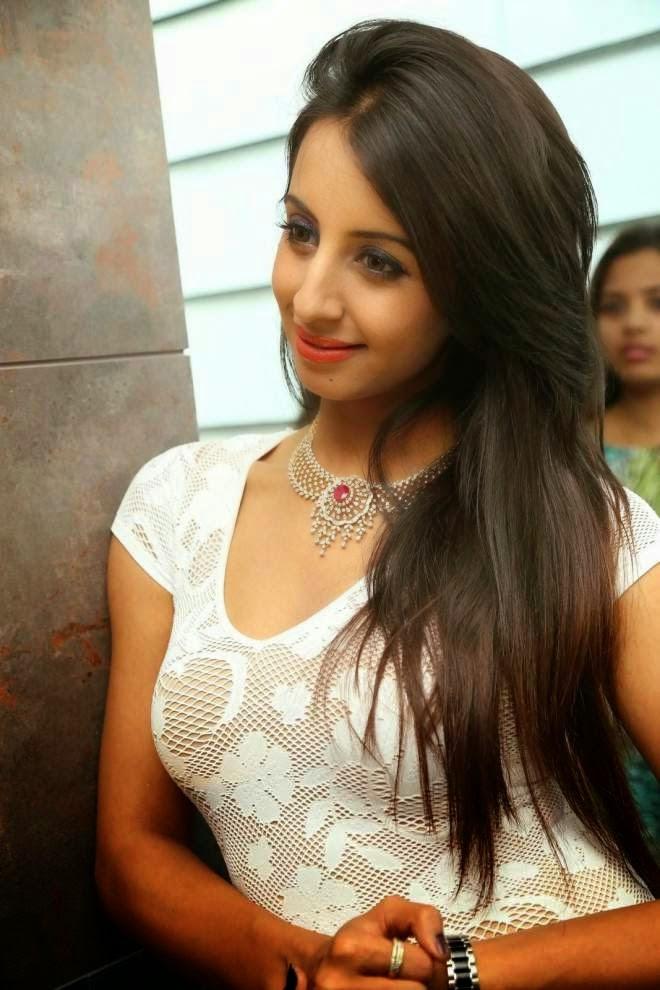 Sanjana Latest Stills In Short Mini Dress