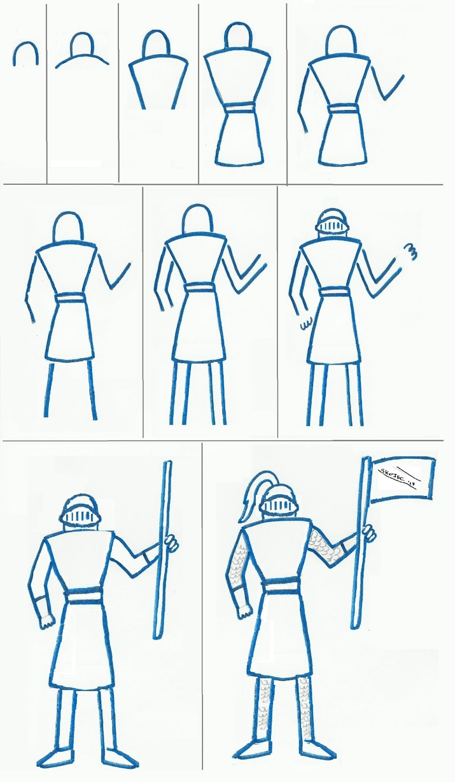 Art class ideas easy knight to draw for Simple paintings to draw