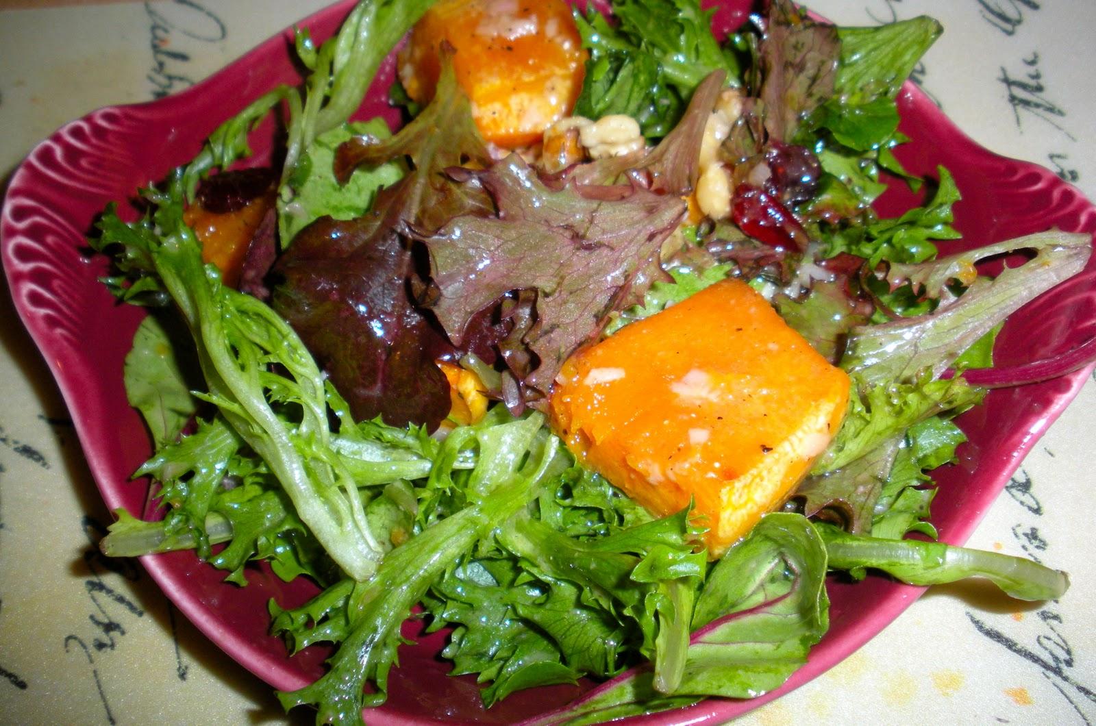 Roasted Butternut Squash Salad with Warm Cider Vinaigrette ...