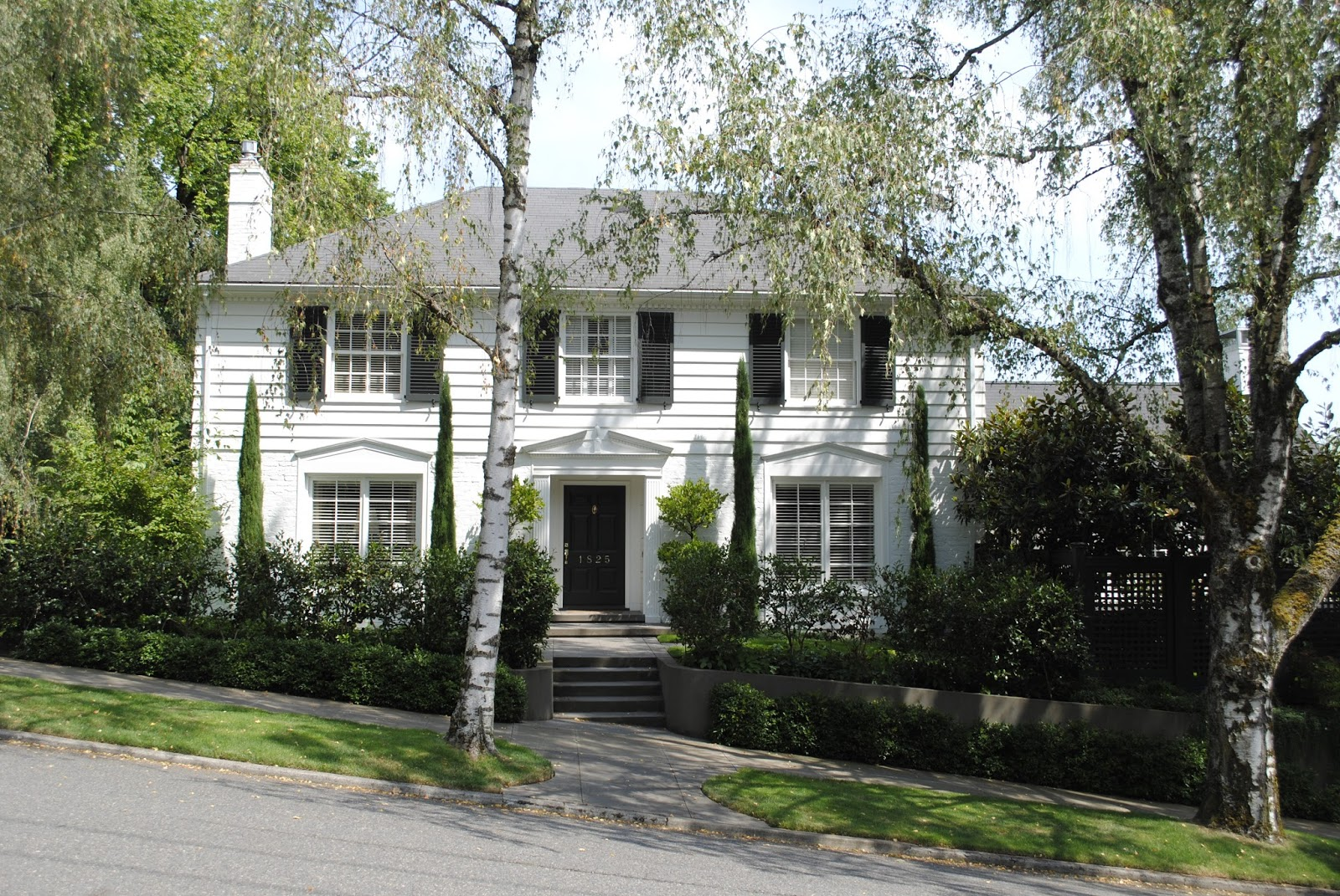 A House Mouse: White Houses with Black Shutters :: Classic Colonial Revival