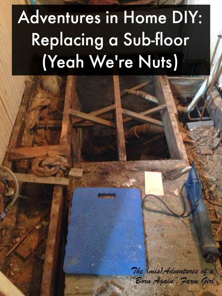 Adventures in Home DIY Replacing a Sub floor Yeah We 39 re Nuts  How To Replace Bathroom Floor. How Do You Unclog A Bathroom Sink