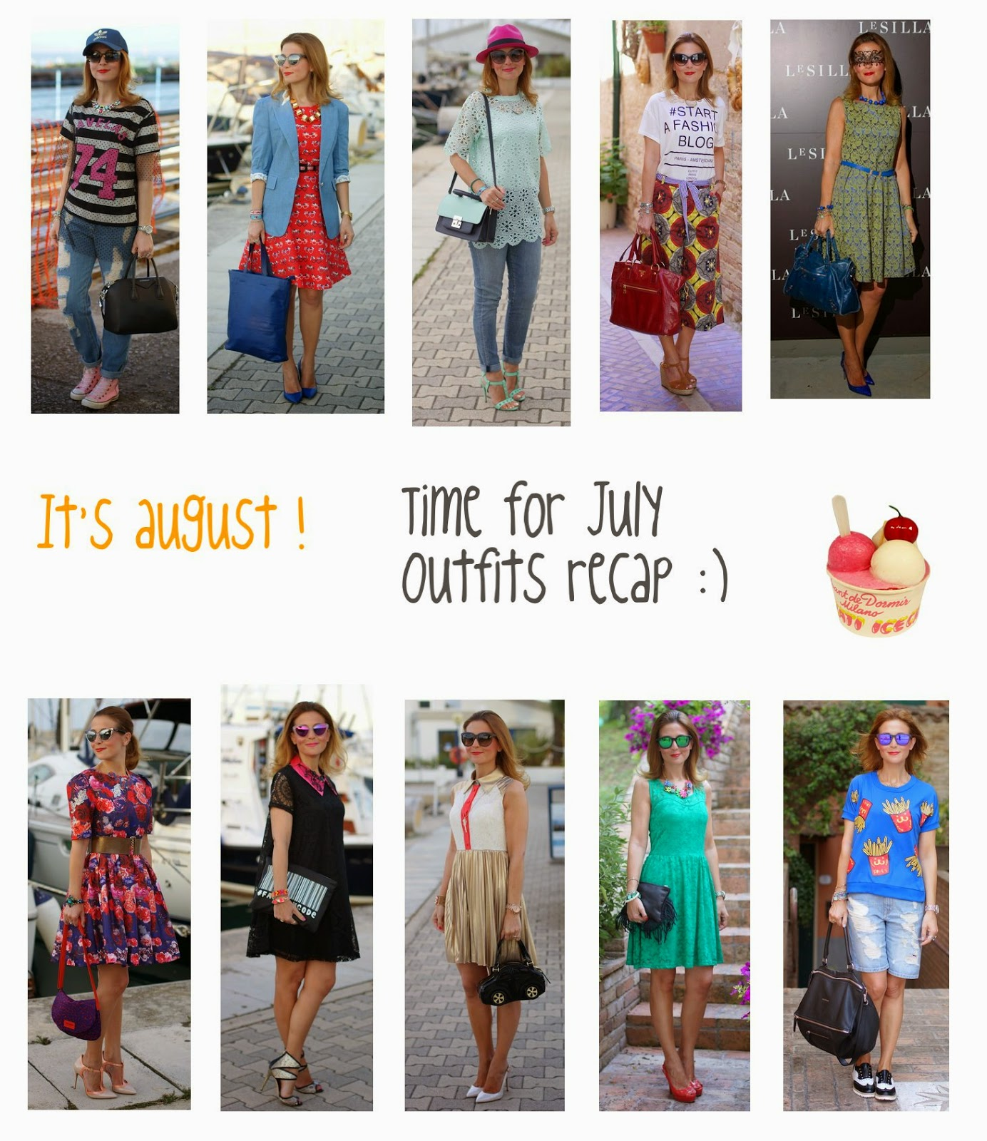 July 2014 outfits recap, welcome august, Fashion and Cookies, fashion blogger